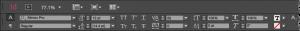 Screenshot of the paragraph formatting toolbar